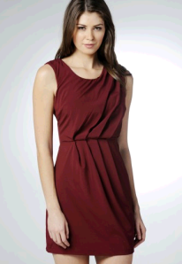 ax paris sleeveless shift burgundy dress