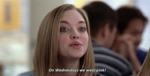 mean girls wednesday pink