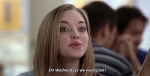 mean girls wednesday pink