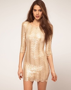 TFNC Dress Scalloped Sequin Dress