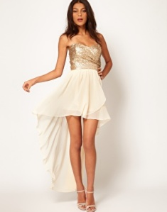 TFNC Dress Sequin Bandeau - HiLo Skirt