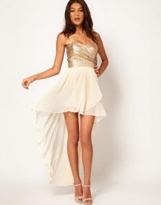 TFNC Dress Sequin Bandeau - HiLo Skirt
