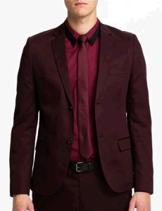 topman skinny cotton fitted blazer