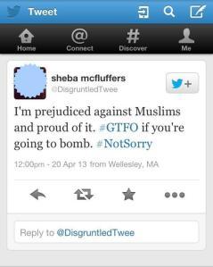 racist tweet muslim hate speech