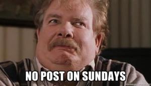 no post on sudnays